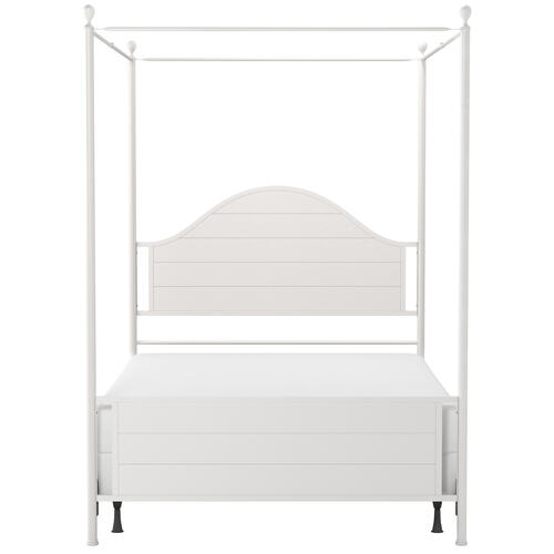 Hillsdale Furniture - Cumberland King Metal Canopy Bed, Brushed White