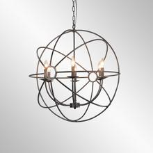 See Details - Derince Iron Chandelier Small