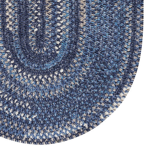 New Homestead Moody Blue Braided Rugs