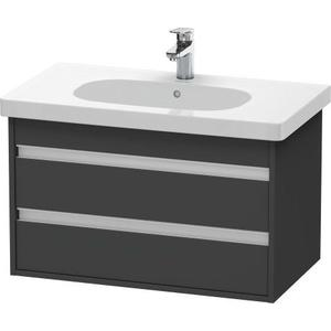 Vanity Unit Wall-mounted, Graphite Matte (decor)