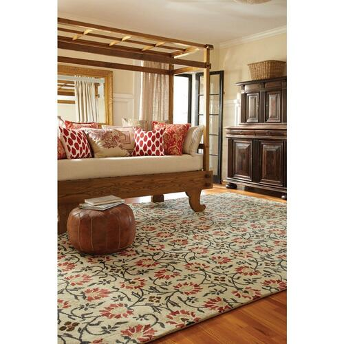 Charming Suzani Red Multi - Rectangle - 4' x 6'
