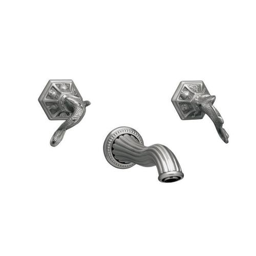 Phylrich - DOLPHIN Wall Lavatory Set WL101 - Polished Brass Uncoated