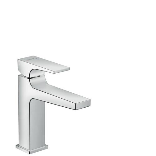 Chrome Single-Hole Faucet 110 with Lever Handle and Pop-Up Drain, 0.5 GPM