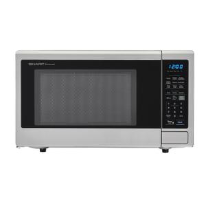 Sharp1.4 cu. ft. 1000W Sharp Stainless Steel Carousel Countertop Microwave Oven