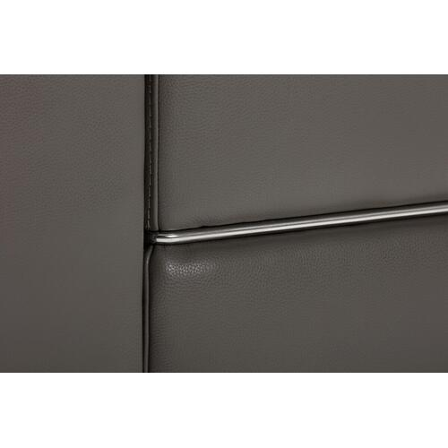 VIG Furniture - Divani Casa Hilgard - Modern Dark Grey Leather Left Facing Sectional Sofa with Recliner