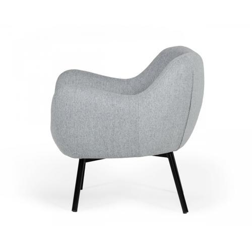 Gallery - Modrest Peyton - Modern Grey Fabric Accent Chair