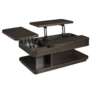 Rectangular Double Lift Cocktail Table - Chocolate Mahogany Finish