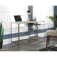 Metal & Wood Office Desk with Open Shelves