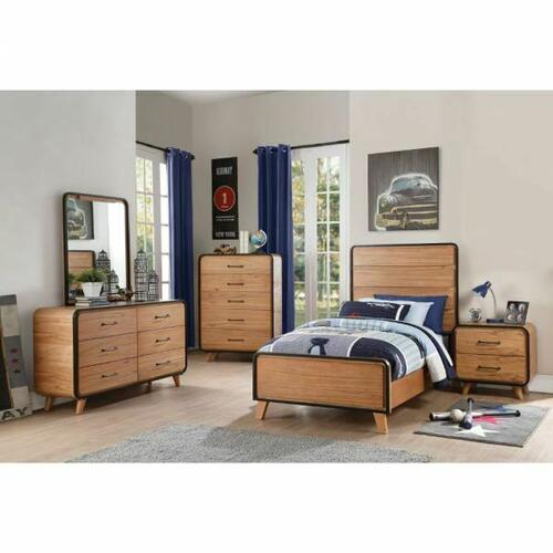 ACME Carla Nightstand - 30763 - Oak & Black
