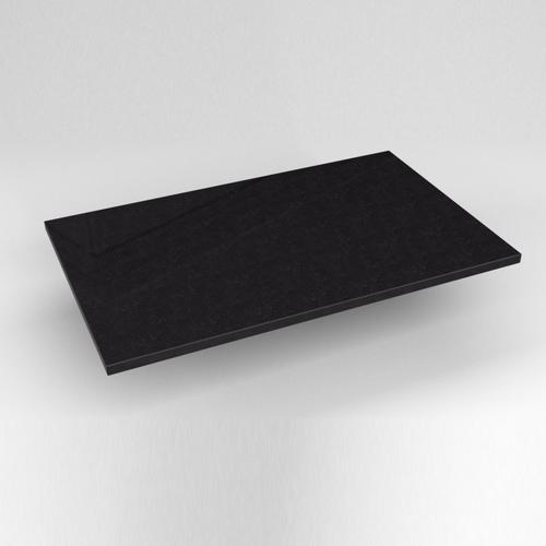 """Engineered Stone 31"""" X 19"""" X 3/4"""" Quartz Dry Vanity Top In Lava Black"""