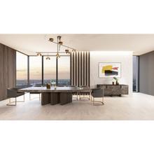 See Details - Nova Domus Amsterdam - Modern Grey Volcano & Eucalyptus Oak Dining Table