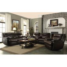 Macpherson Power Motion Brown Three-piece Living Room Set