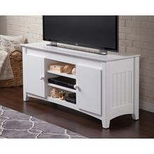 See Details - Nantucket 50 inch Entertainment Console with Adjustable Shelves in White