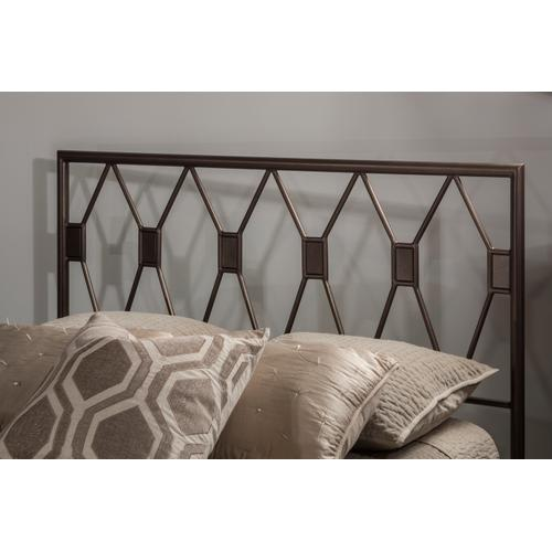 Tripoli Full Headboard With Frame, Metallic Brown