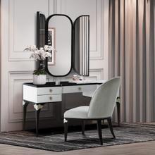 See Details - Vanity Desk Mirror & Chair 3 PC