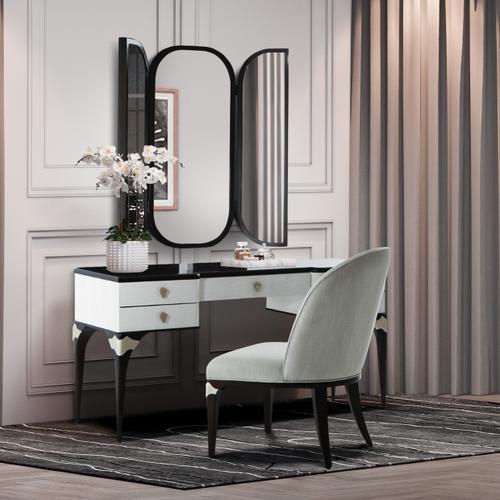 Gallery - Vanity Desk Mirror & Chair 3 PC