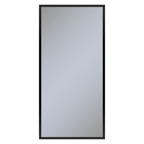 """Profiles 23-1/4"""" X 48"""" X 4"""" Framed Cabinet In Matte Black With Electrical Outlet, Usb Charging Ports, Magnetic Storage Strip and Right Hinge"""