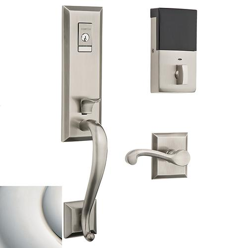 Polished Nickel with Lifetime Finish Evolved Stonegate Handleset
