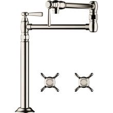 Polished Nickel Pot Filler, Deck-Mounted