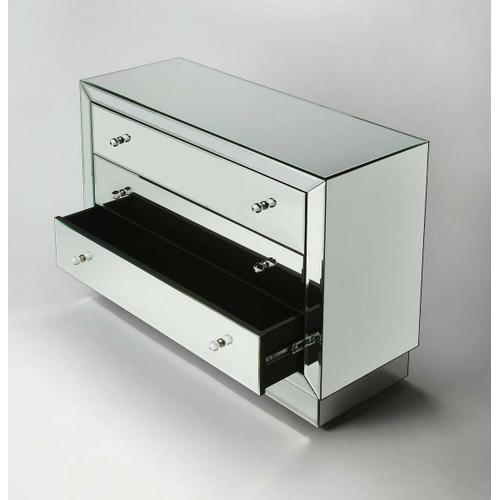 Butler Specialty Company - Dressed in true urban sophistication, this dresser is sheathed in mirror, even the deep, platform base. Handcrafted mitered corners and attention-to-detail demonstrate superior workmanship. Reflect the soothing shades or bright ambiance of any room with this practical, but not extravagant chest.