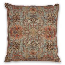 """Pillow L319 Teal/coral Zena 18"""" X 18"""""""