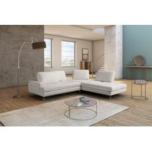 View Product - Estro Salotti Voyager - Modern White Leather Right Facing Sectional Sofa