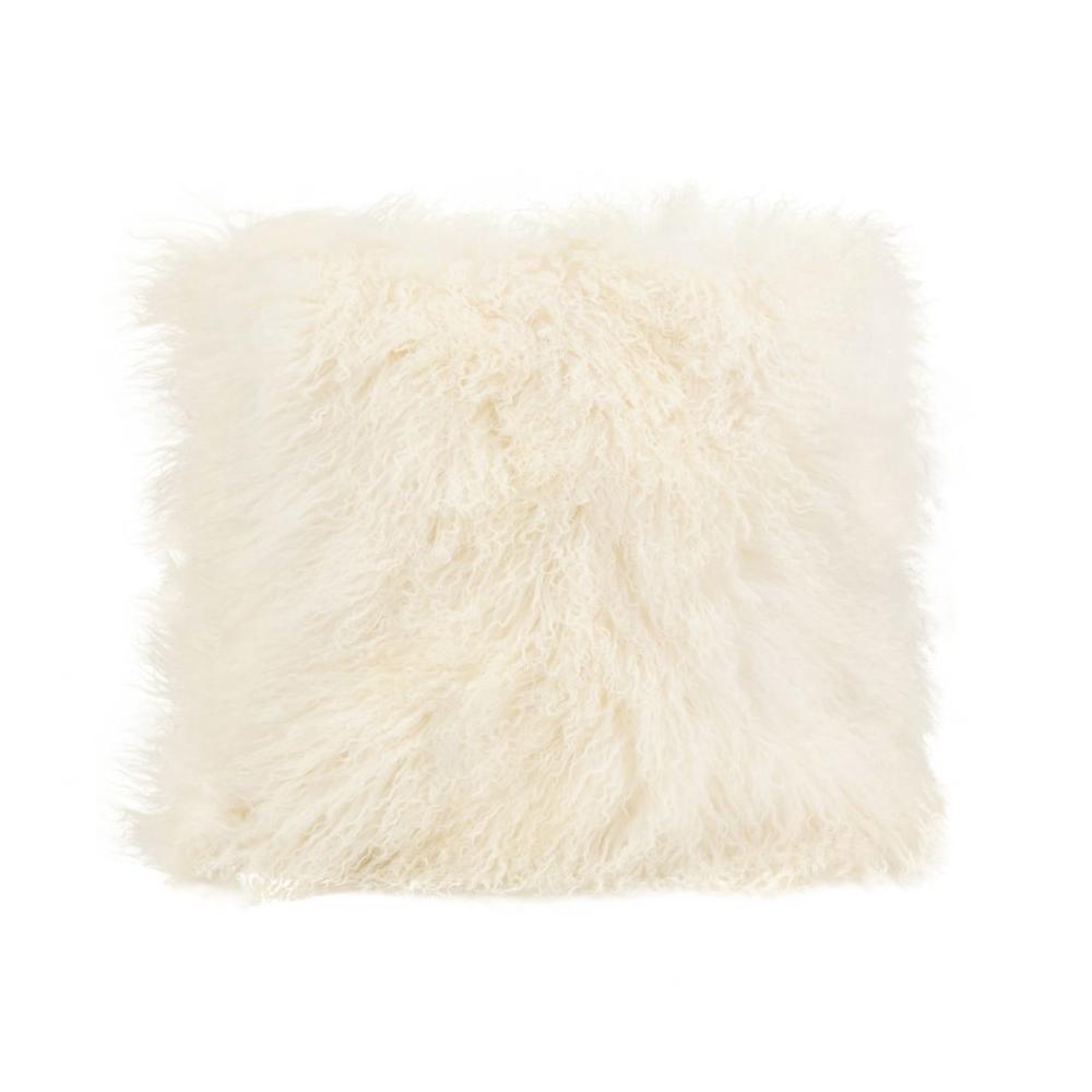 See Details - Lamb Fur Pillow Large Cream