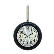 """MTL BLK WALL CLOCK 11""""W, 19""""H"""