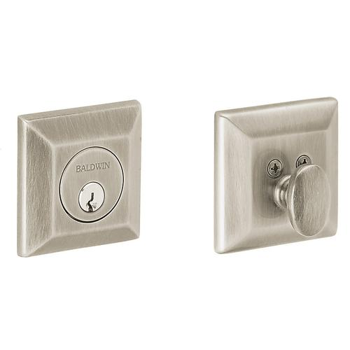 Satin Nickel Squared Deadbolt