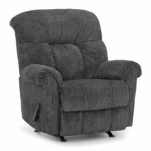 Darwin Rocker Recliner in Recruit Charcoal Fabric