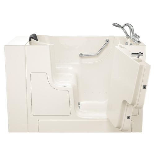 American Standard - Gelcoat Premium Series 30x52 Inch Walk-in Tub with Air Spa System and Outward Opening Door, Right Drain  American Standard - Linen