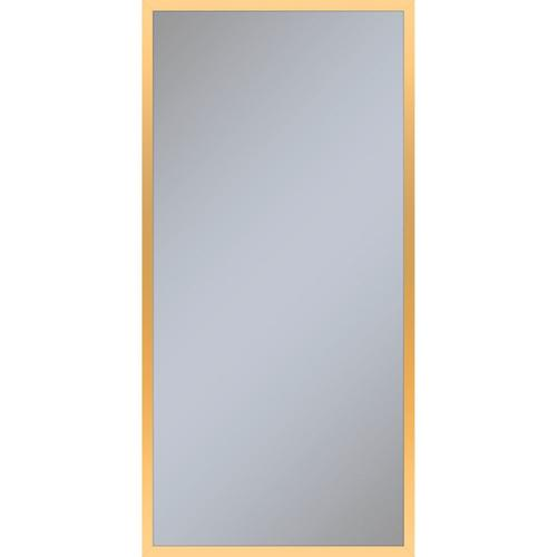 """Profiles 19-1/4"""" X 39-3/8"""" X 6"""" Framed Cabinet In Matte Gold With Electrical Outlet, Usb Charging Ports, Magnetic Storage Strip and Left Hinge"""