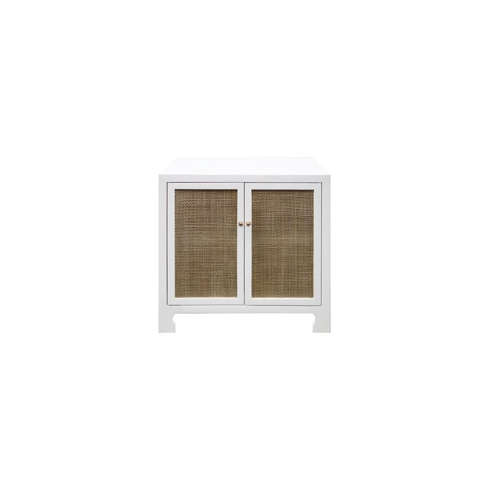 British West Indies Style With A Modern Flair, This Chic Occasional Cabinet Showcases Natural, Hand-woven Caning On A Crisp, Matte White Canvas. the Result - A Sublime Composition That Embodies Casual Elegance. Whether Placed In A Coastal Retreat or Downtown Loft, Alden Complements Any Design Motif.