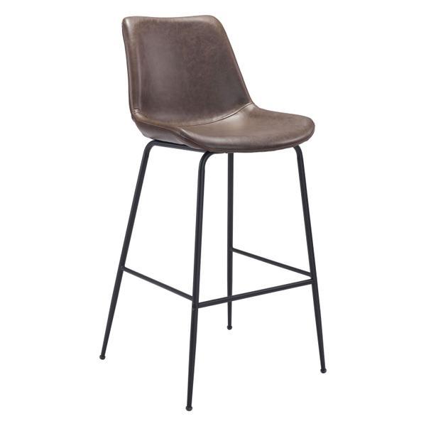 See Details - Byron Bar Chair Brown