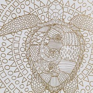 Gold Foil Turtle
