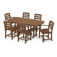 View Product - La Casa Cafu00e9 7-Piece Dining Set in Teak