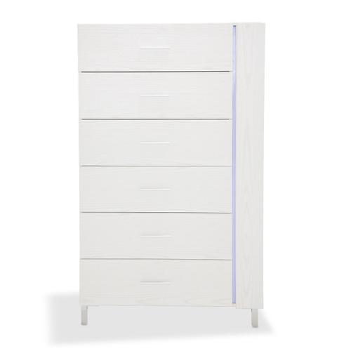 6 Drawer Vertical Storage Cabinets-chest of Drawers W/led Lighting