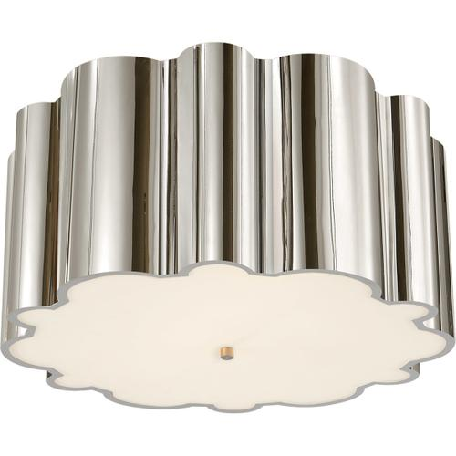 Visual Comfort - Alexa Hampton Markos 4 Light 26 inch Polished Nickel Flush Mount Ceiling Light in Frosted Glass