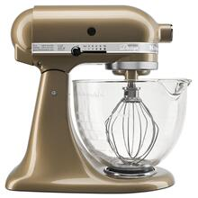 See Details - Artisan® Design Series 5 Quart Tilt-Head Stand Mixer with Glass Bowl Champagne