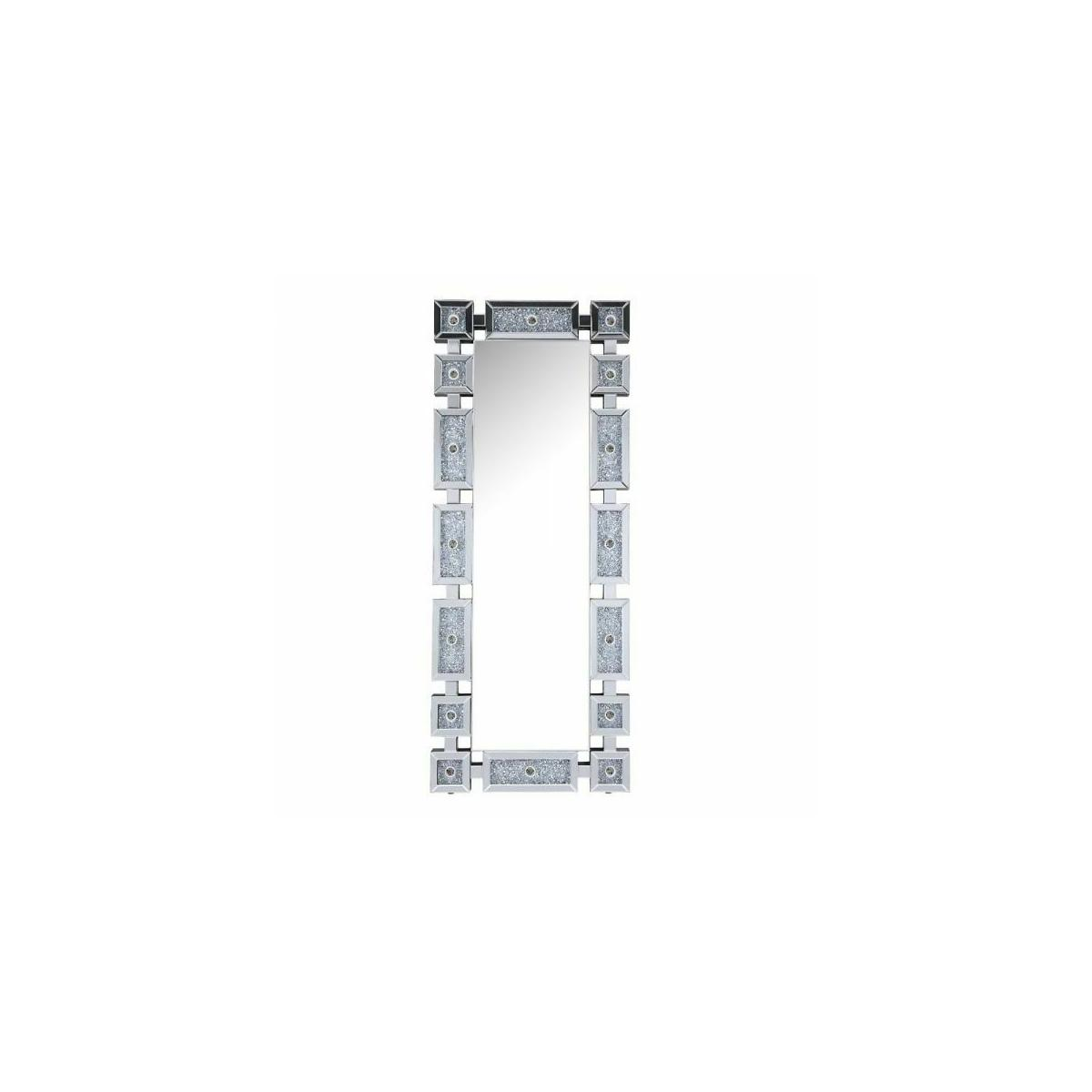 ACME Noralie Wall Decor - 97756 - Glam - LED Light, Mirror, Glass, MDF, Faux Diamonds (Acrylic) - Mirrored and Faux Diamonds