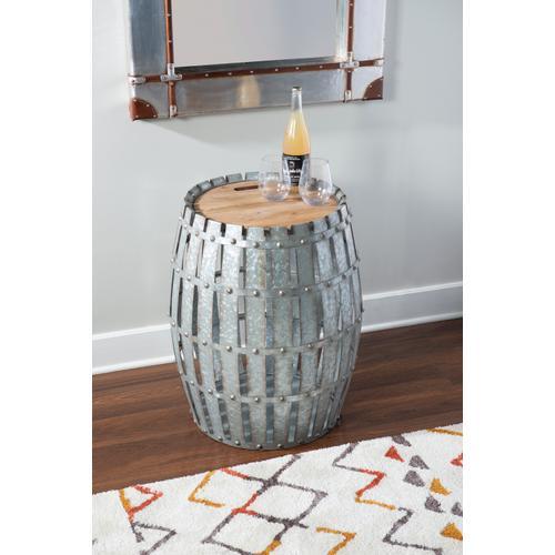 Craft Ale Galvanized Barrel