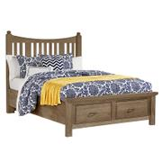 Slat Poster Bed with Storage Footboard Product Image