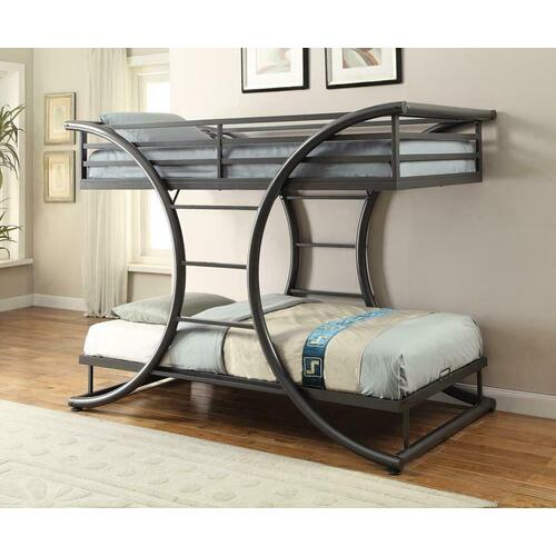 Stephan Contemporary Gunmetal Twin-over-twin Bunk Bed