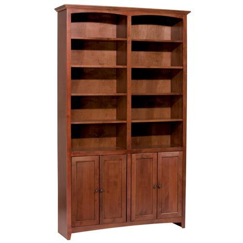 """GAC 84""""H x 48""""W McKenzie Alder Bookcase w/doors"""