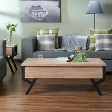ACME Kalina Coffee Table - 80585 - Rustic Natural & Black