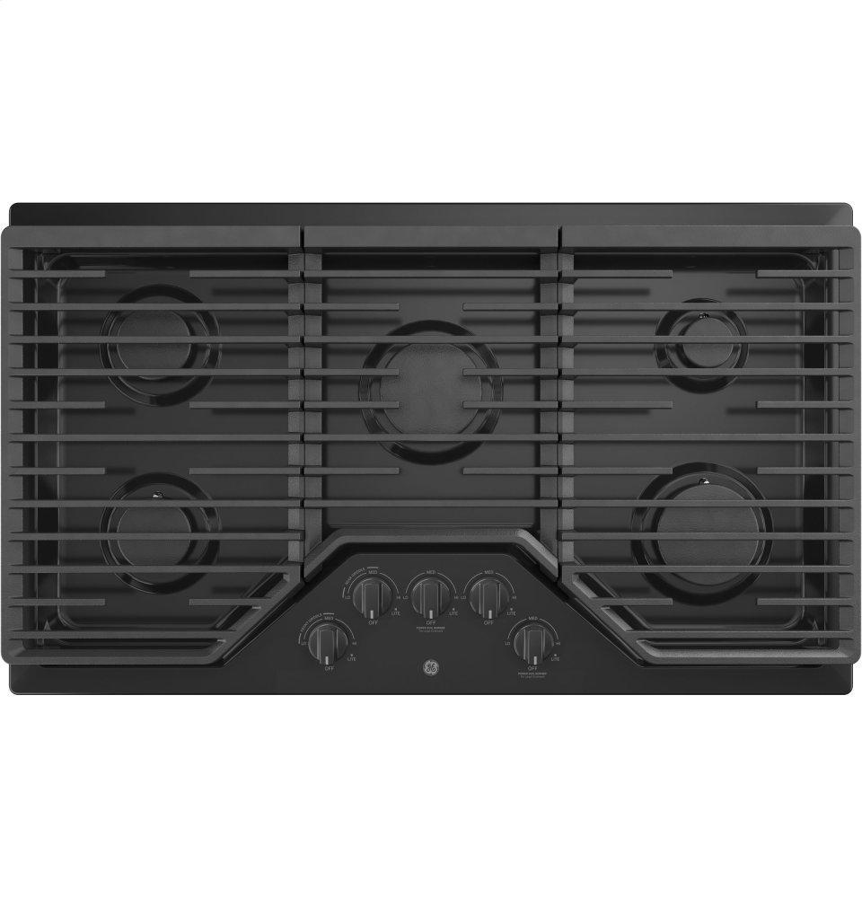 """GEGe® 36"""" Built-In Gas Cooktop With 5 Burners And Dishwasher Safe Grates"""