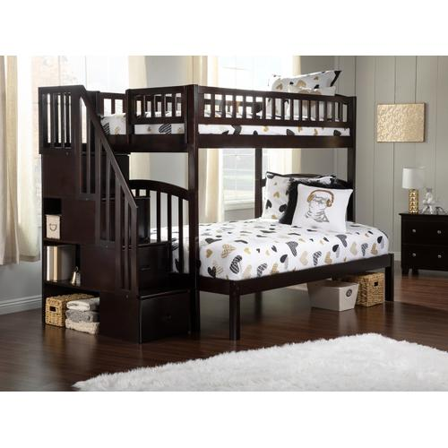 Atlantic Furniture - Westbrook Staircase Bunk Bed Twin over Full in Espresso