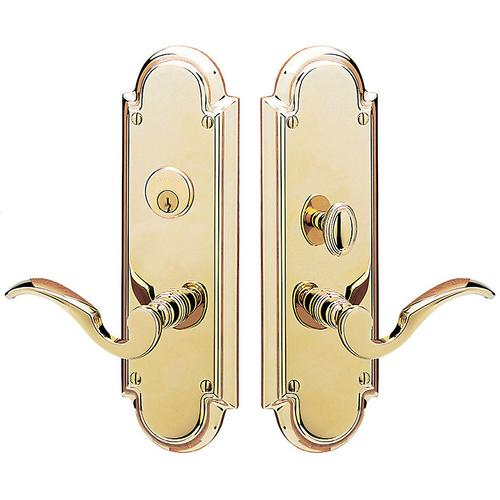 Non-Lacquered Brass Stanford Entrance Set