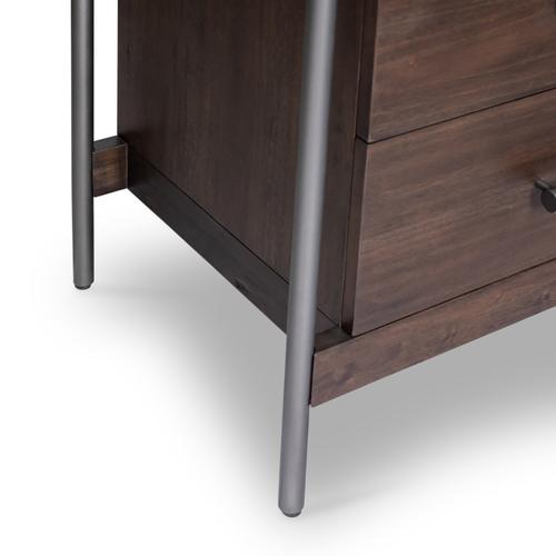 Jordan 5 Drawer Dresser-warm Brown