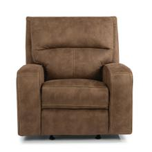 View Product - Fabric Power Recliner with Power Headrest *Harkness Exclusive*